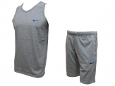 Grey swoosh Shorts And Top