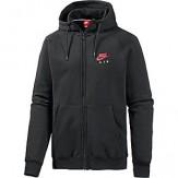 nike air hoodie black red