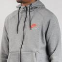 nike air hoodie grey red