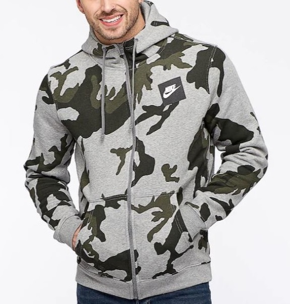 986fc9f63a ... NIKE CAMO FLEECE FULL ZIP HOODIE MENS - UGO Sports