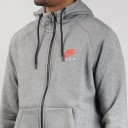nike air hoodie grey red