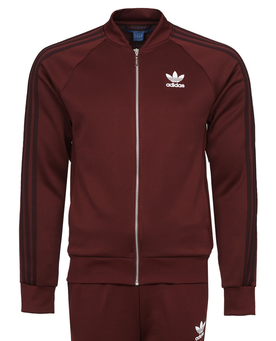 f3f0a933bf35 ADIDAS ORIGINALS BURGUNDY TRACK JACKET MENS - UGO Sports
