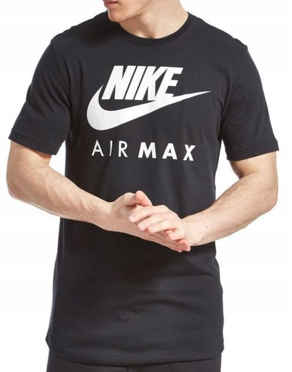 f5ce0936 NIKE AIR MAX T-SHIRT CREW NECK MENS BLACK - UGO Sports