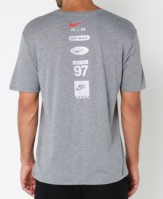 Nike hybris t-shirt grey back