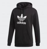 Adidas trefoil hoodie black 3