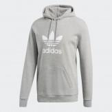 Adidas trefoil hoodie grey 2